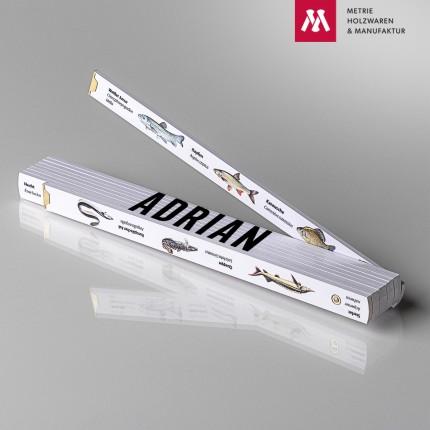 Zollstock mit Name Adrian
