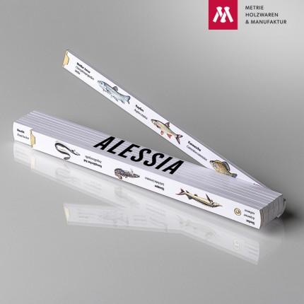 Zollstock mit Name Alessia