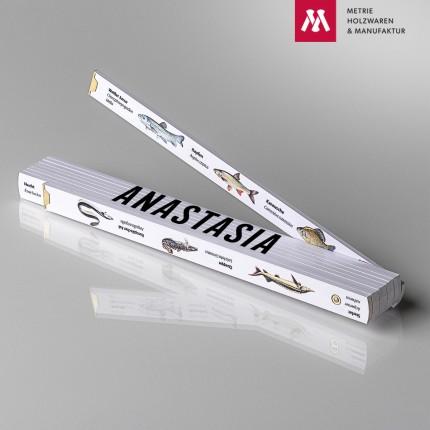 Zollstock mit Name Anastasia