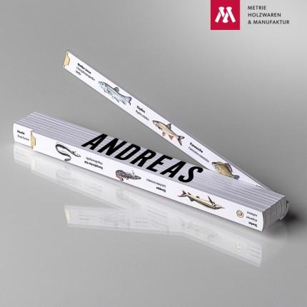 Namenstagsgeschenk für Onkel Zollstock mit Name Andreas