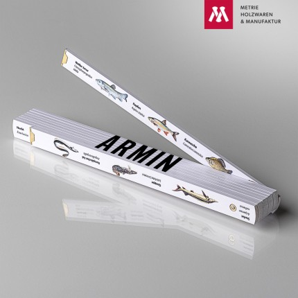 Namenstagsgeschenk für Großvater Zollstock mit Name Armin