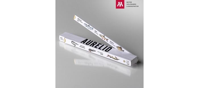 Namenstagsgeschenk für Papi Zollstock mit Name Aurelio