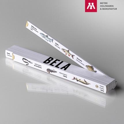 Namenstagsgeschenk für Großvater Zollstock mit Name Bela