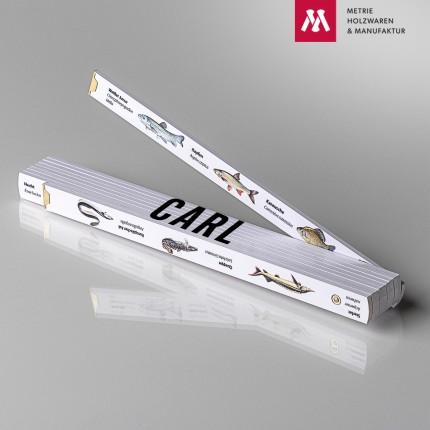 Zollstock mit Name Carl