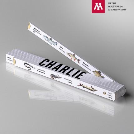Zollstock mit Name Charlie