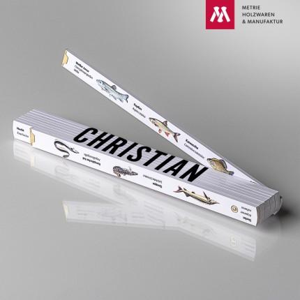 Zollstock mit Name Christian