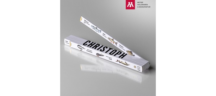 Zollstock mit Name Christoph