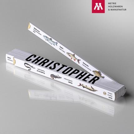 Zollstock mit Name Christopher