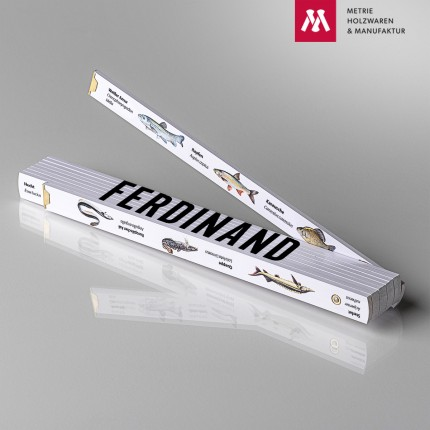 Zollstock mit Name Ferdinand