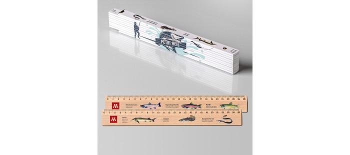 Geschenk für Angler: Zollstock + 2 Lineale