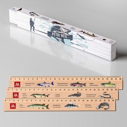 Geschenk für Angler: Zollstock + 3 Lineale